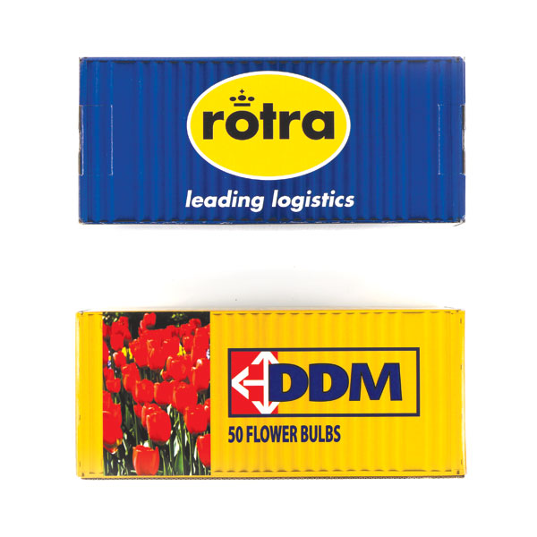 container met bloembollen