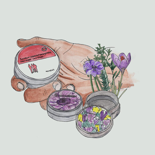 blikjes met bloembollen