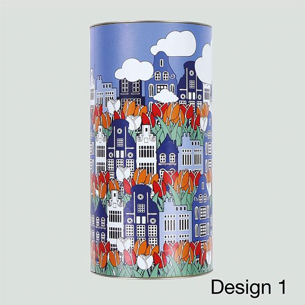 bloembollenkoker Large met grachtenhuisjes design