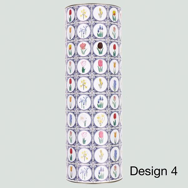koker xl met bloembollen delftsblauwe tegels