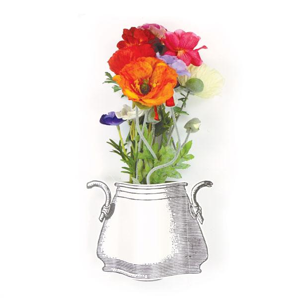 Wilden bloemenmix met vaas