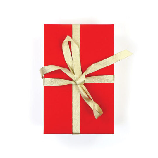 Kerstdoos amaryllis rood-wit