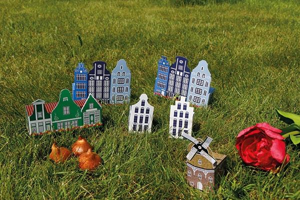 Mini Hollandse molen met bloembollen