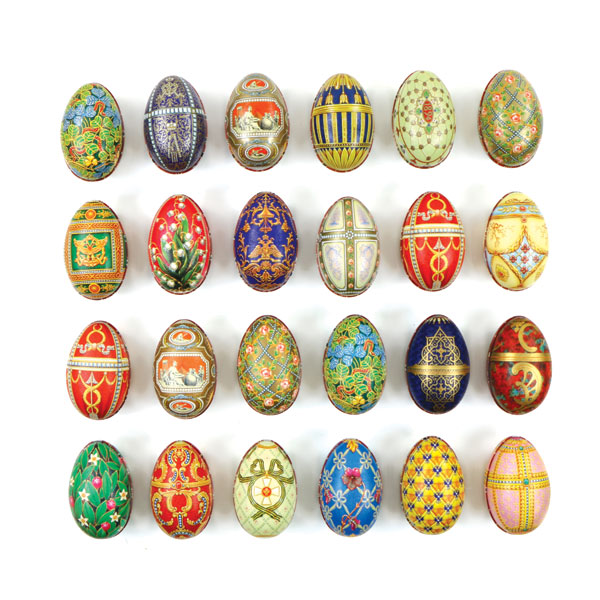 Fabergé eieren gevuld met heerlijke paaseitjes
