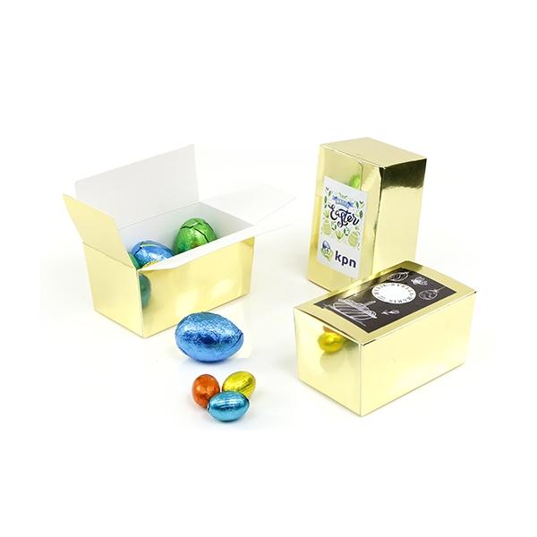 gouden doosje met paaseieren