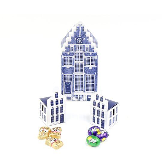 Mini grachtenpandje met paaseitjes-0