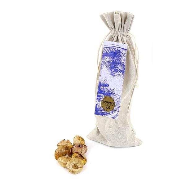 Linnen Rembrandt-tas met bloembollen als relatiegeschenk