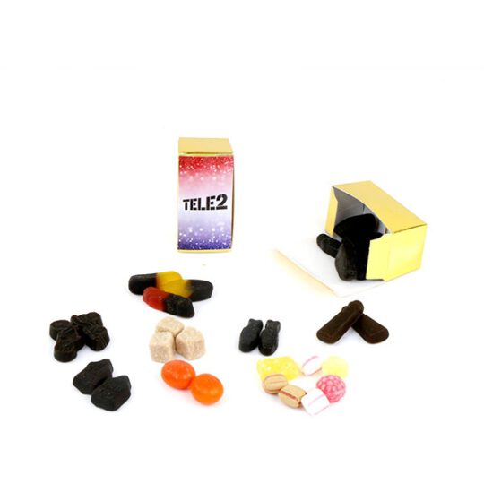 Gouden mini doosjes met snoepjes