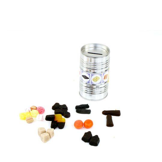 olievaatje met snoepjes
