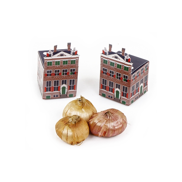 klein vierkant doosje als replica van het Rembrandthuis