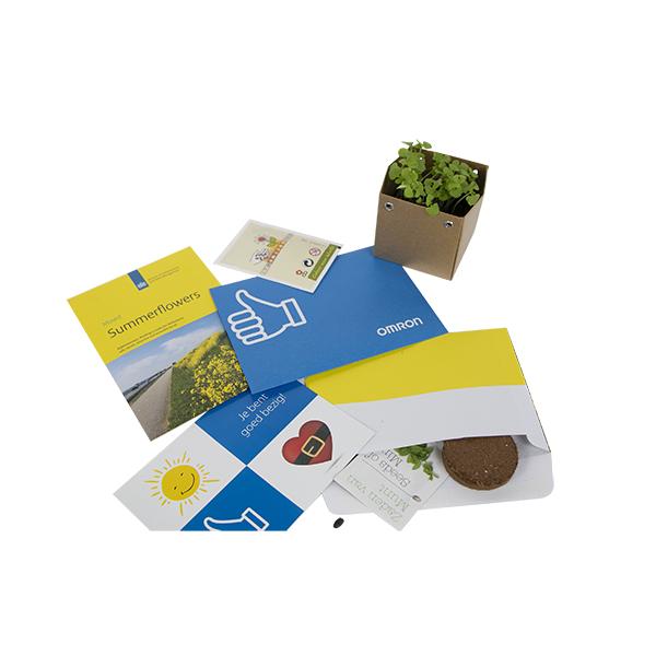 zaadjes in enveloppe brievenbusgeschenk